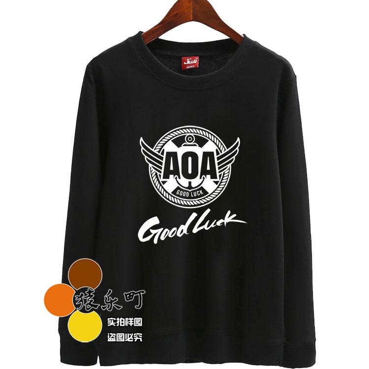 Spring autumn kpop aoa ace of angel good luck printing o neck sweatshirts kpop pullover  ...