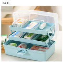 SYTH Hot Large Capacity Family Multi-layered Chest Box Medical Storage Plastic for Medicine Organizer