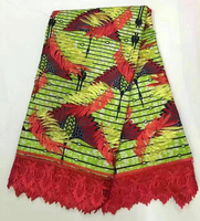 Wholesale And Retail 2017 Newest Style High Quality African Super Wax Holland With African Embroidery Guipure