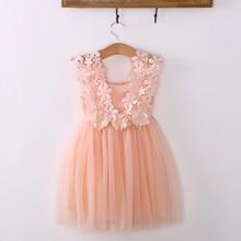 new fashion Baby girl dress Princess Lace Tulle Tutu dress f