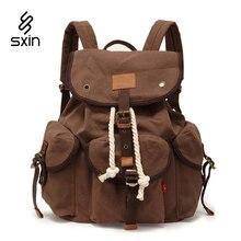 Vintage Canvas Men Backpack Bags School Satchel for Men Bag Casual Brand Unisex Laptop Travel Bag Women Casual Backpack Bag 9012