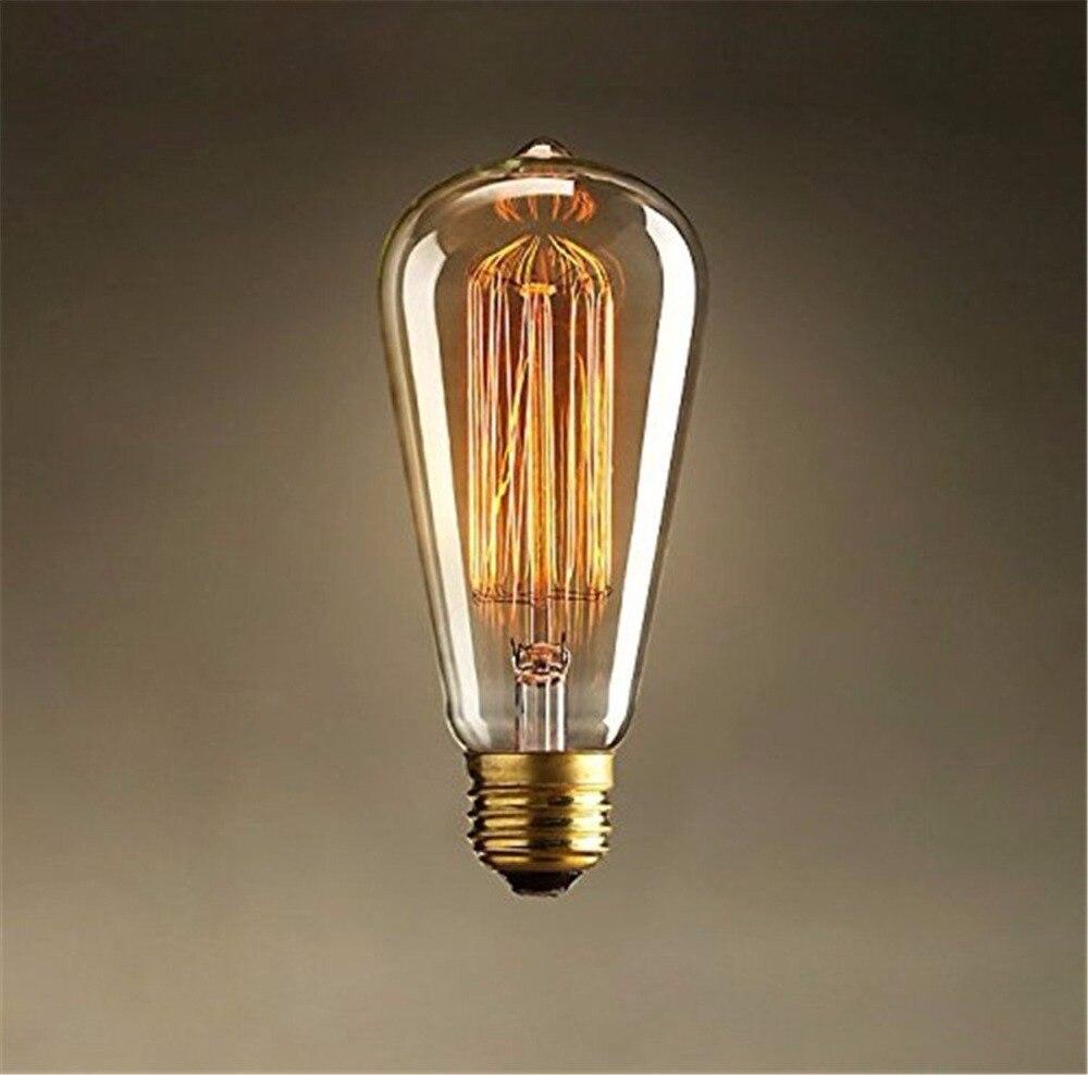 Lightinbox Screw Vintage Retro Light Bulb Incandescent Edison old fashioned Style Squirrel Cage