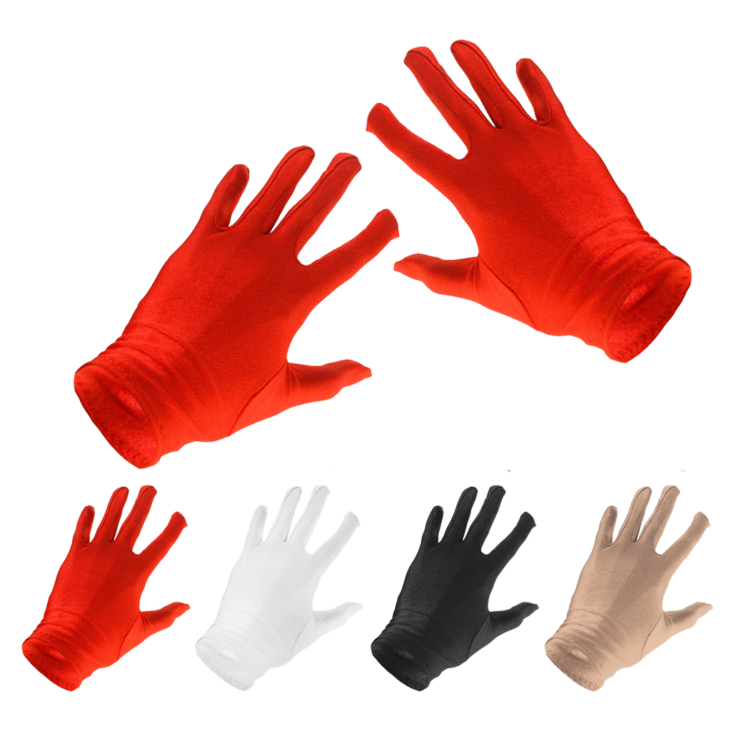 Women Sun UV Protection Short Gloves Costume Gloves Opera Party Dress Accessory For Prom Weddings Costumes Opera Dance