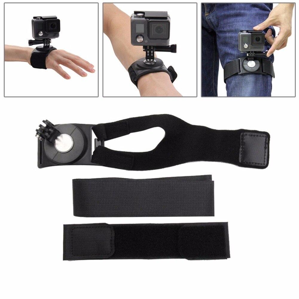 PULUZ muñeca de mano brazo de la pierna montaje rotación de 360 grados para GoPro accesorios para todo el Shooting del ángulo pulsera