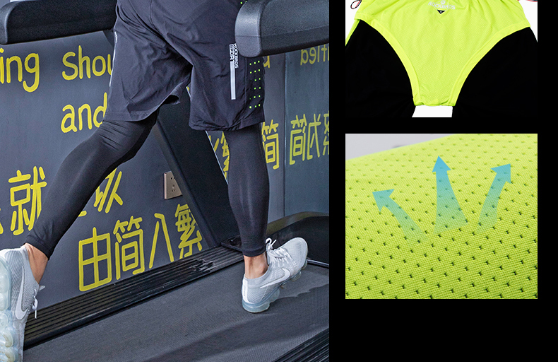 Photo of mesh ROCKBROS men's training quick dry suit 5 pcs. 5 pcs male running set sweat absorbent