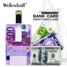Pen Drive Currency Usb Stick 4gb 8gb 16gb 32gb 64gb Memory 2 0 Flash Dollars Pounds Euro U Disk