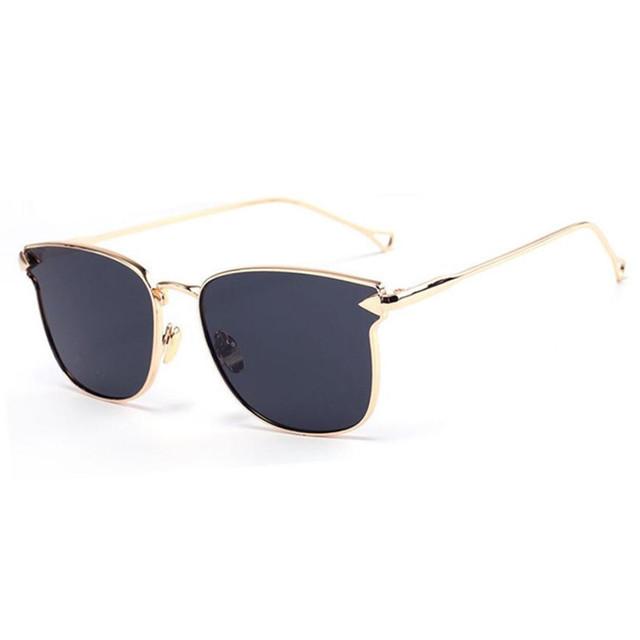 Mais novo 2016 Espelho Óculos de Sol Do Olho de Gato Ponto Único-Ponte CRÔMICO Das Mulheres Senhora UV400 Óculos de Sol oculos de sol Quente venda