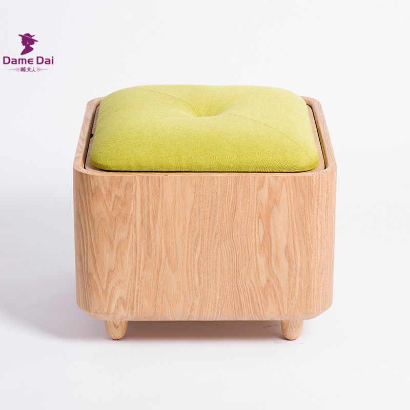 Wondrous Wooden Organizer Storage Stool Ottoman Bench Footrest Box Theyellowbook Wood Chair Design Ideas Theyellowbookinfo