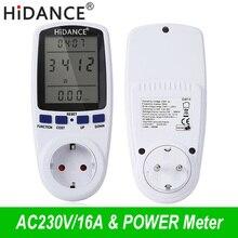 HiDANCE AC измерители мощности 220 В цифровой ваттметр ЕС счетчик энергии ватт монитор Потребление электроэнергии измерительная розетка анализатор