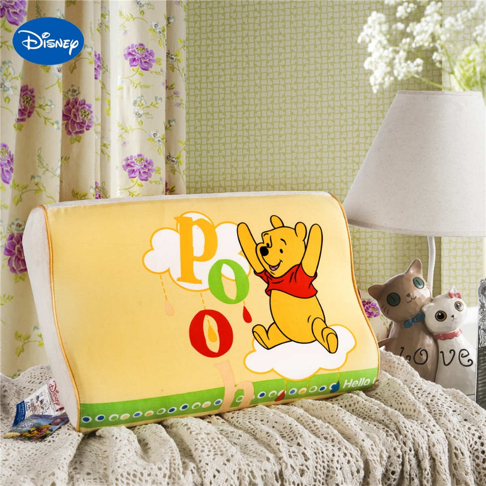 Yellow winnie the pooh memory pillow 40x25cm bedroom decor for Baby cot decoration