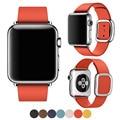 38 ММ 42 ММ Мода Мягкий Кожаный Ремешок для Apple Watch Band, Кожаный Ремешок для Apple Watch Ремешок Современные Пряжка