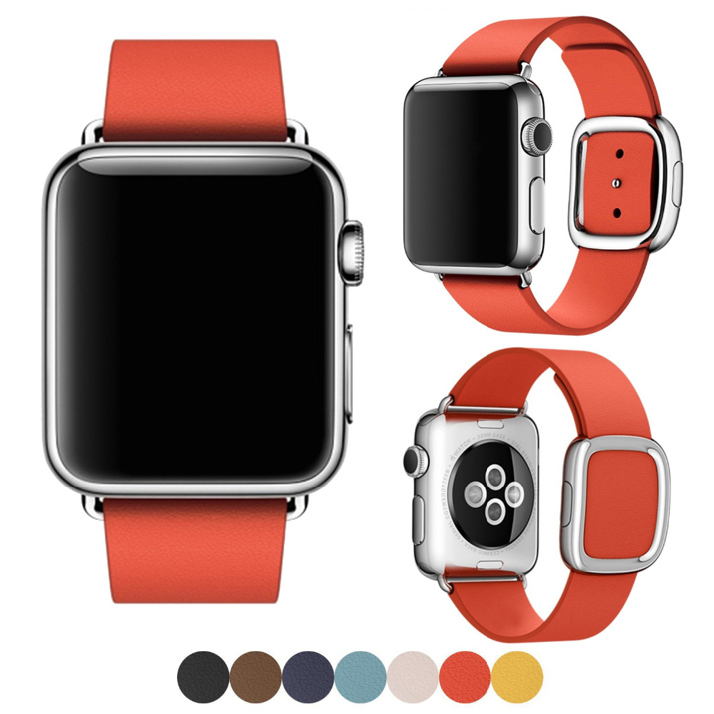 38MM 42MM Fashion Soft Genuine Leather Strap for Apple Watch Band Leather Band for Apple Watch