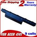 Jigu 9 células para acer aspire v3-551g v3-571g v3-771g e1 e1-531 e1-571 v3-471g e1-471 e1-421 e1-431 v3 batería del ordenador portátil serie