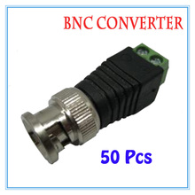 50 pieces BNC CCTV Video Balun passive Transceiver Male Adapter For CCTV IP Camera Power Supply Surveillance Accessories