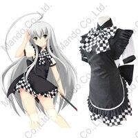 Anime Nyaruratohotepu Yasaka Nyaruko Cosplay Costumes Women Girls Lolita Apron Maid Dress Meidofuku Uniform Halloween Outfit