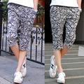 Calças de verão dos homens Novos da Marca de Moda com Impresso cintura elástica Algodão Masculina Casual calças capri frete grátis