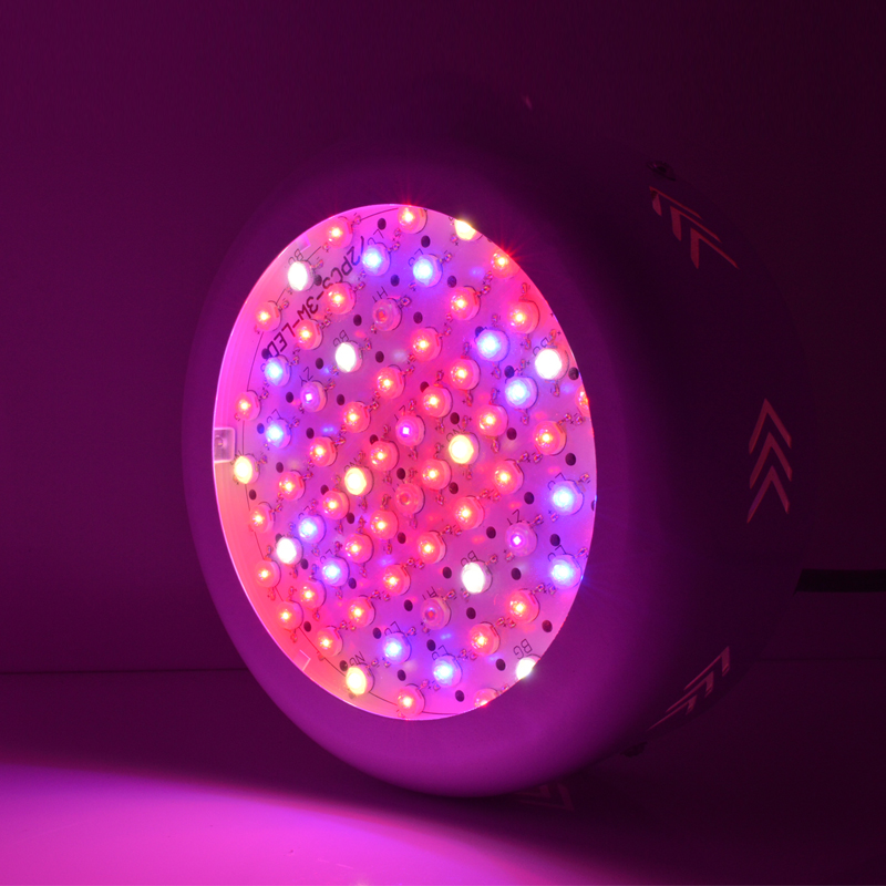 ФОТО 72pcs led Full Spectrum 216W UFO Led Grow Light for plants Flowering lighting  42Red+12Blue+6warm white+6white+3IR+3UV AC85-265V