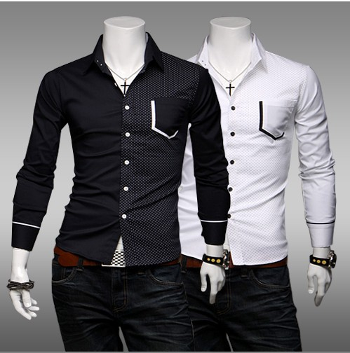 Spring 2014 New Arrival Stylish Black And White Dress Shirts For ...