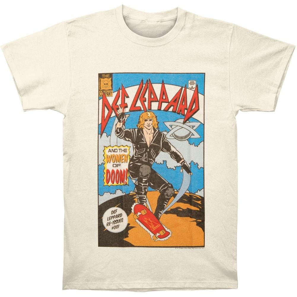 Funny Men t shirt Women novelty tshirt Def Leppard Comic
