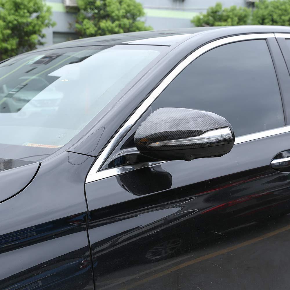 Fibre de carbone pour Mercedes Benz C w205 E W213 glc-class X253 S classe w222 ABS plastique voiture rétroviseur couvercle garniture pour LHD