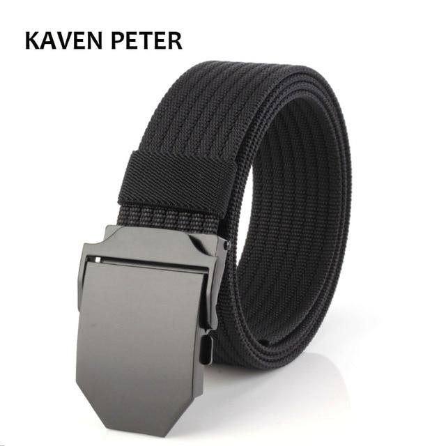 Canvas Tactical Belt High Quality Military Belts For Mens   Women 3.8 CM  Wide Luxury Jeans Belt Automatic Buckle Nylon Belts 6d0eab8128