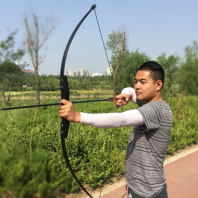 Profissional 30/40lbs arco recurvo para a mão direita de madeira arco ao ar livre tiro com arco caça acessórios esportes cego & árvore