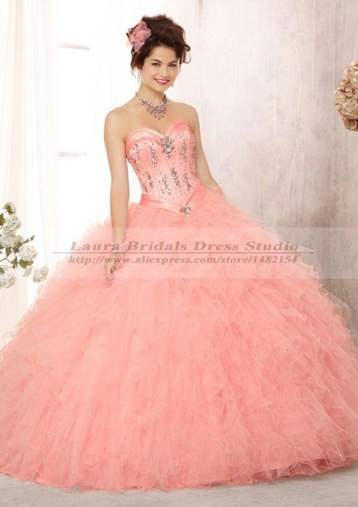 Vestidos De quinceañeras elegante púrpura / color De rosa Vestidos ...