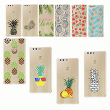 Pineapple Watermelon Lemon Phone Cases Summer Fruit Transparent soft silica gel Mobile phone shell for huawei  p10 p20 p8 p9 pro