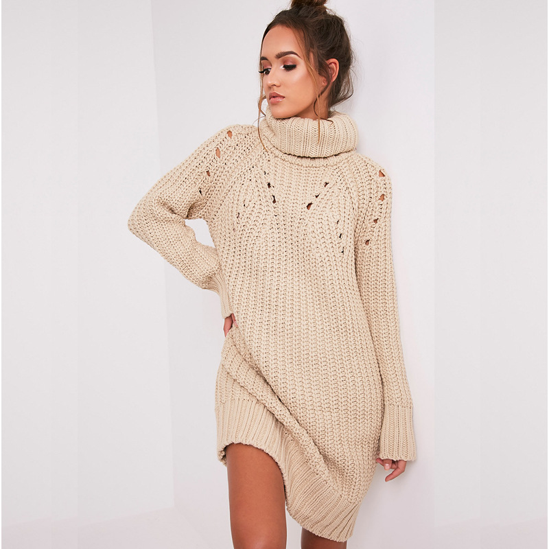 Girls Casual Turtleneck Long Knitted Sweater Dress Women Loose Bodycon Dress Pullover Female Autumn Winter Dresses 2017 maternity clothes fall pregnant women sweater knitting dress autumn winter knitted female loose warm pullover cute lady dresses