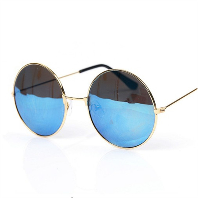 12aa871d28 Mirrored Retro Round Sunglasses Men Women Brand Designer Female Male Sun  Glasses Men s Women s Vintage Glasses