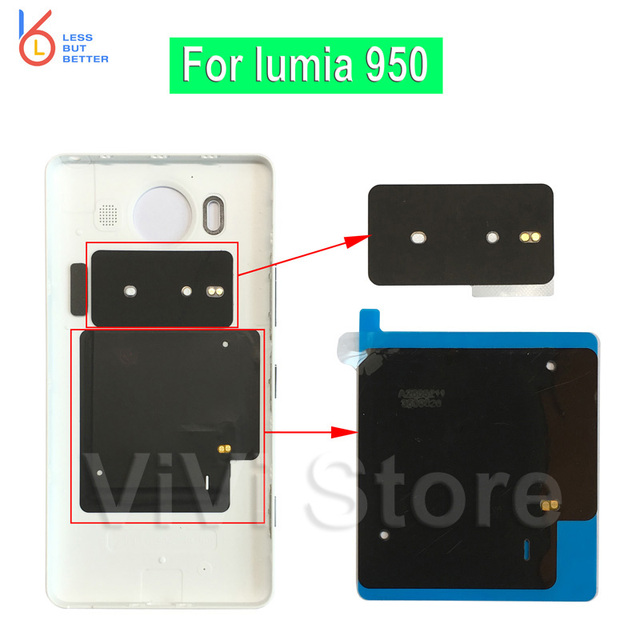 For Microsoft lumia 950 Back Cover Case NFC Chip + Qi Wireless ...