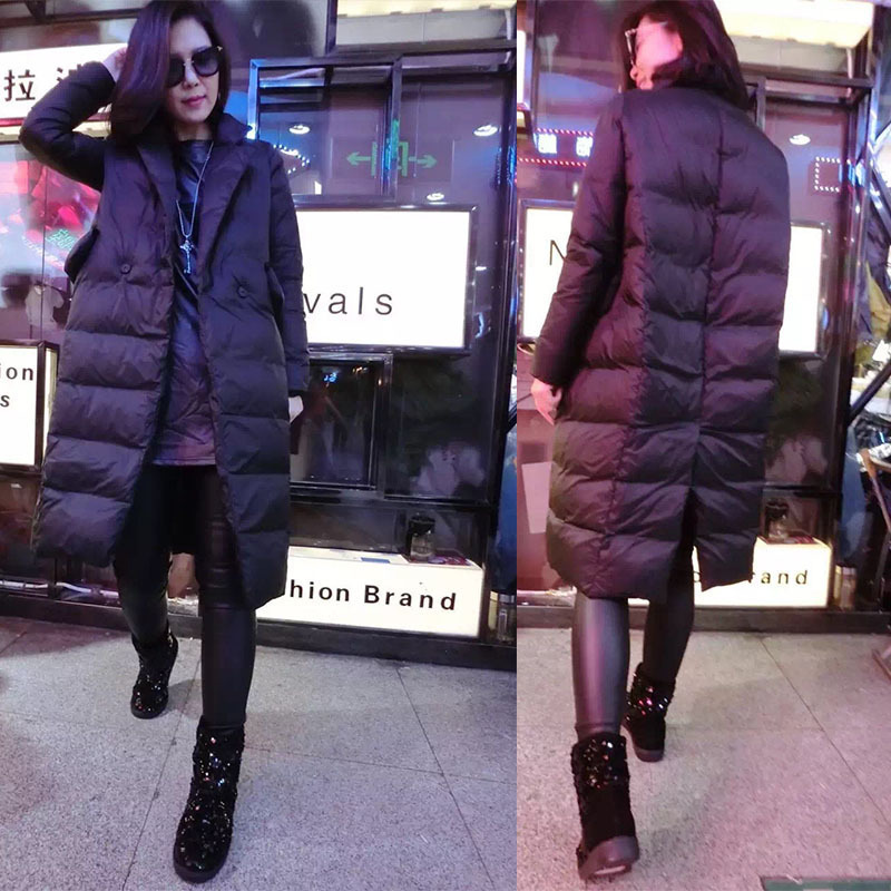 2018 plus size 6XL outwear new Korean winter warm thicke cotton coat long loose women down jacket coat double-breasted clothes