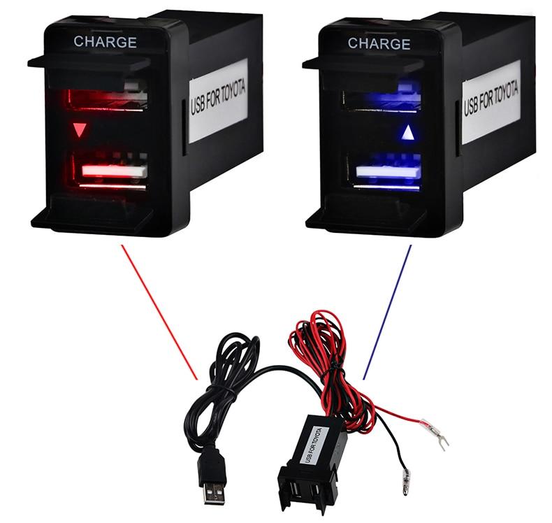 Toyota USB Adapter Adapter Port Kabel İnterfeysi Səs Sistemi 2.1A - Cib telefonu aksesuarları və hissələri - Fotoqrafiya 2