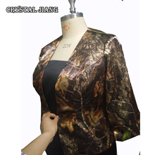 Real Image !!! Mossy Oak Jacket For Mothers Dresses With 3/4 Sleeveless Jackets Sheath Wedding Formal Gown
