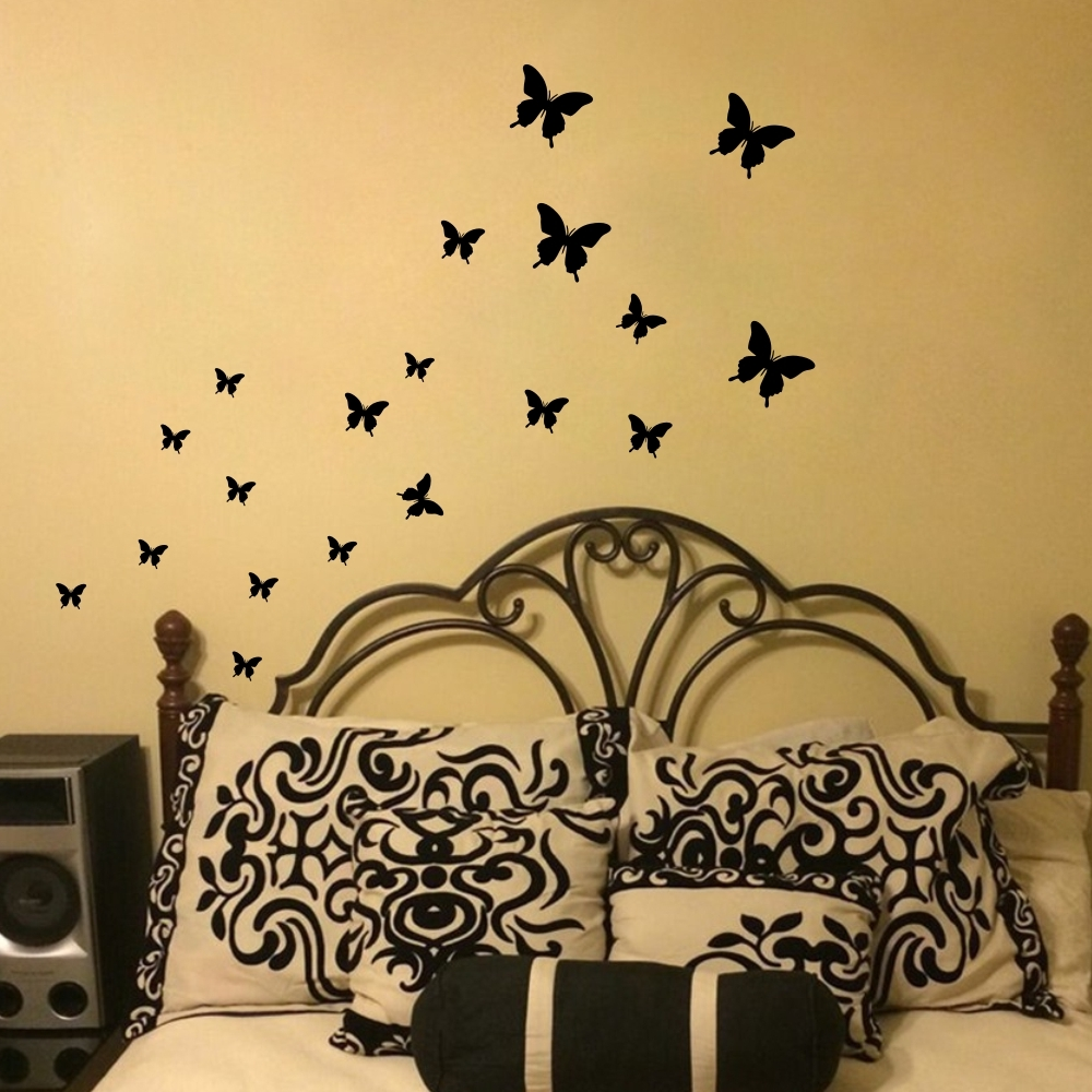Butterfly Wall Stickers DIY Wall Decals Vinyl Mural Wall Decoration ...