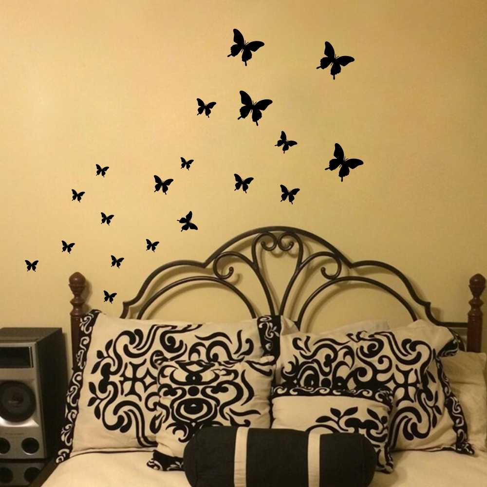 Butterfly Wall Stickers Diy Wall Decals Vinyl Mural Wall Decoration For Bedroom Living Room Children Girls Room Decor Wall Decor Room Decorationdecoration For Bedroom Aliexpress