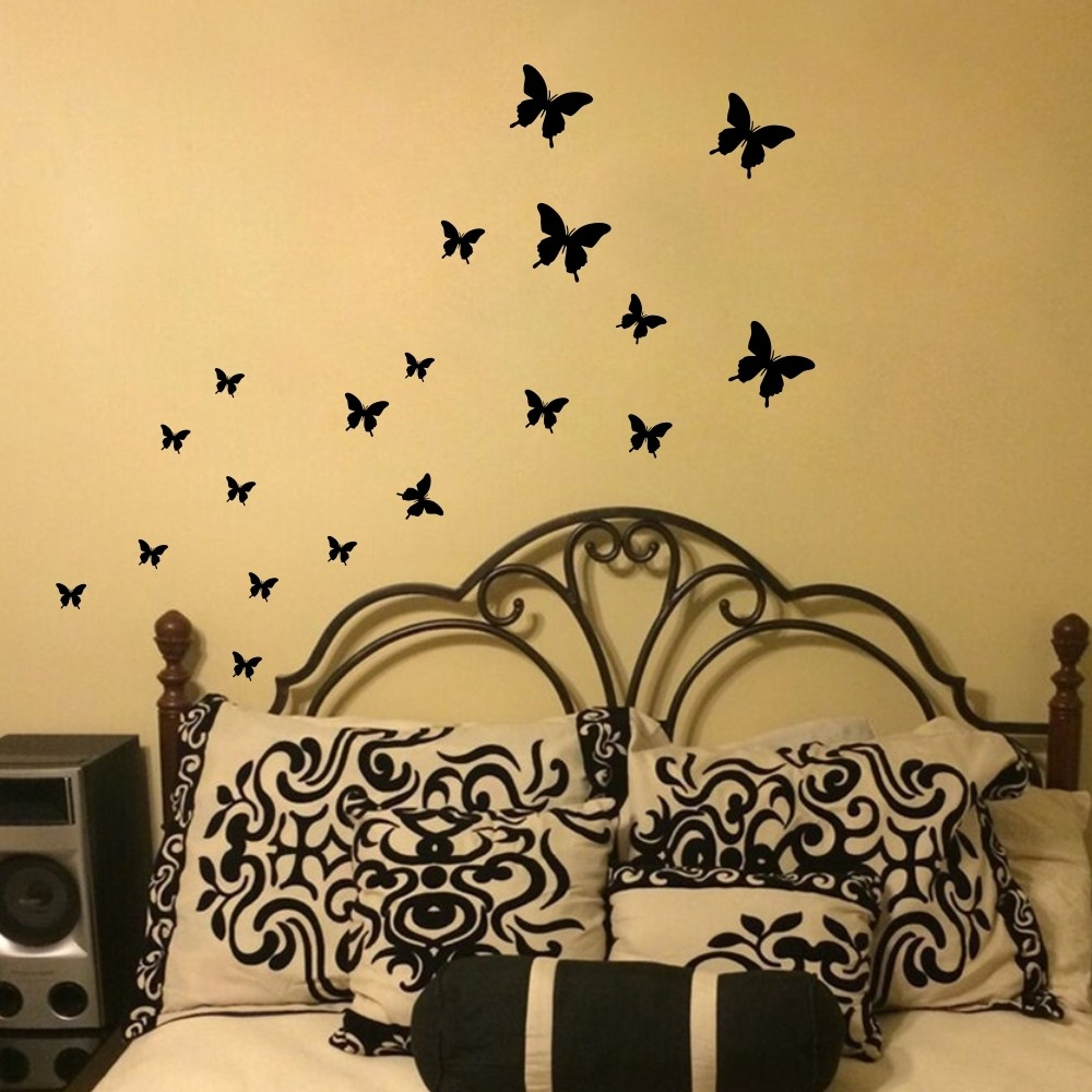 Online Shop Large Size 100x80cm FAIRY Wall Sticker with Butterfly ...