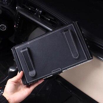 Creative Bling Crystal Car Tissue Box Visor Type Glitter Diamond Tissue Box Cover Paper Holder for
