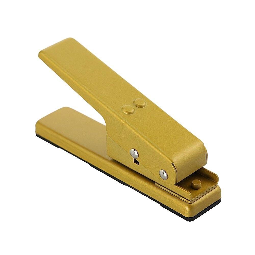 SEWS-Professional Guitar Plectrum Punch Picks Maker Card Cutter DIY Own Pick (Gold)