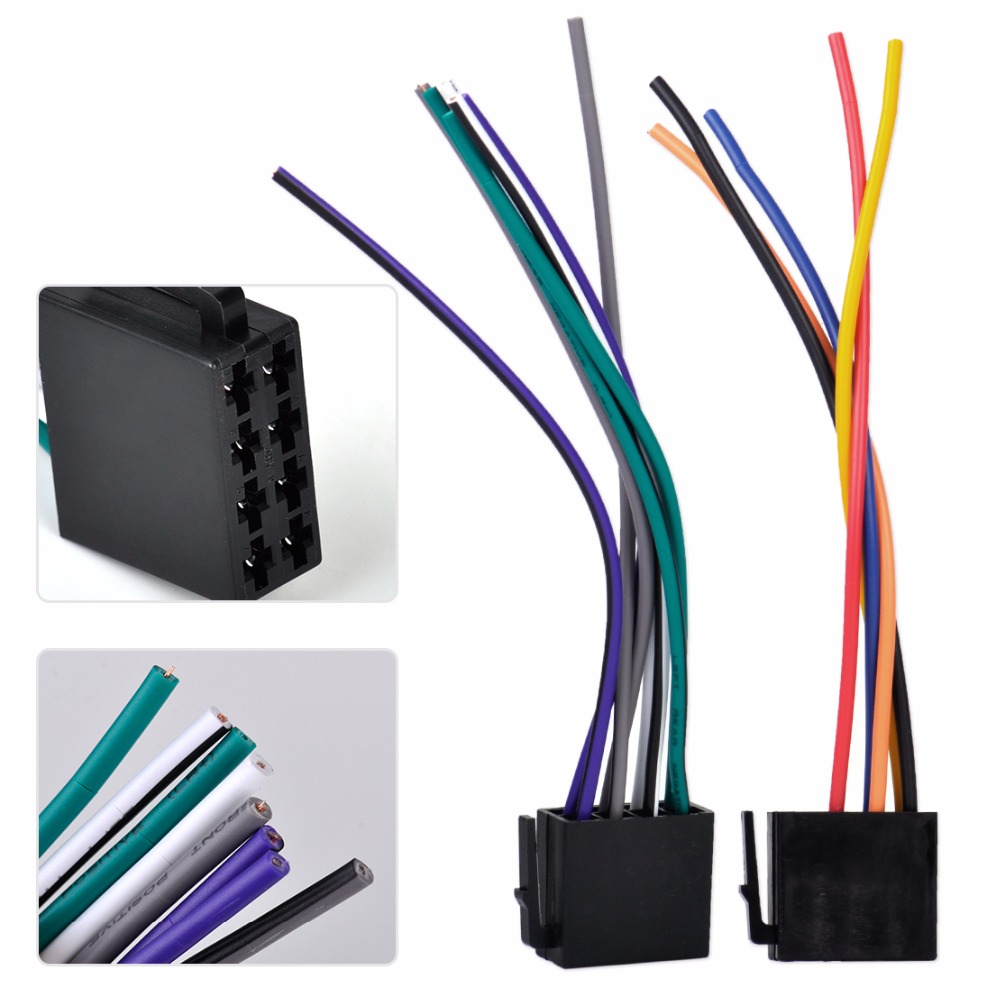 DWCX Universal ISO Wire Harness Female Adapter Connector Cable Radio Wiring Connector Adapter Plug Kit for universal 6 volt wiring harness diagram wiring diagrams for diy 6 volt universal wiring harness at crackthecode.co