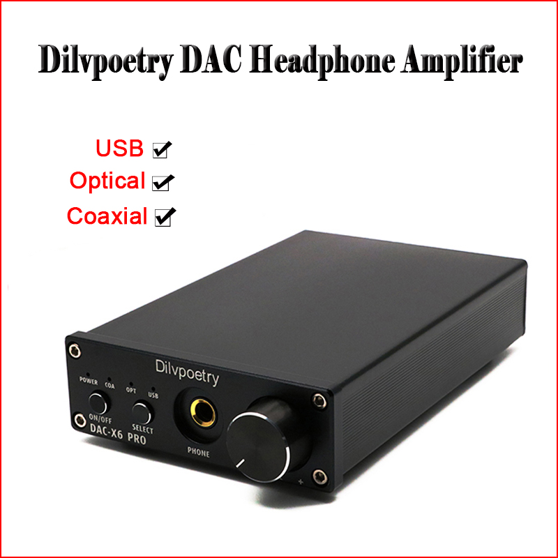 Dilvpoetry DAC-X6 PRO USB DAC Headphones Amplifier Audio Hifi CS4398 Headphone Power Amplifier Headset RCA Optical Headphone Amp цена и фото