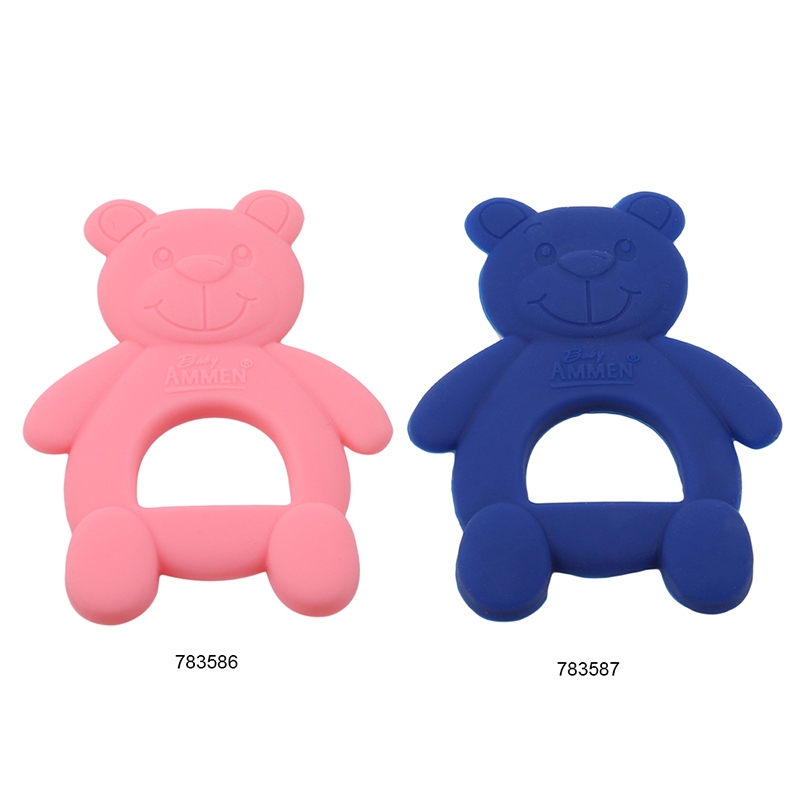 2pcs Baby Teether Silicone Chewing Teethers Safety Infant Teething Newborn Tooth Bears Children Training Toys Kid Food Grade BQA