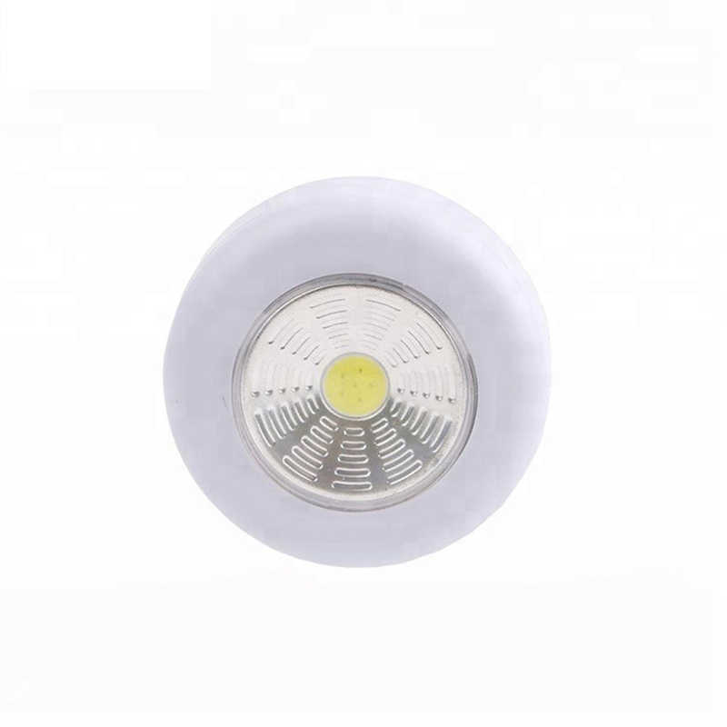 1/2/5Pcs 3W Cordless COB LED Under Cabinet Lights AAA Battery Powered Touch Control Easy Install Living Room Kitchen Wall Lamp