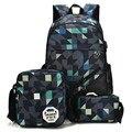 Рюкзак для женщин и мужчин  3 шт./компл.  с камуфляжным принтом