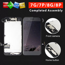Premium Full Assembly LCD For iPhone 7 8 Plus Complete Display with 3D touch Screen and Front Camera home button repair parts(China)