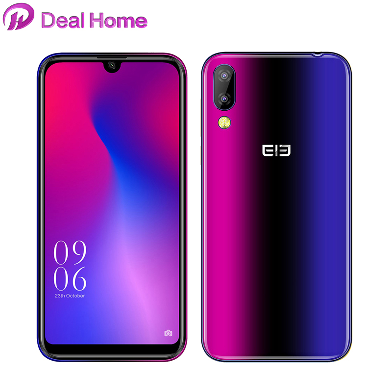 Nouveau téléphone intelligent Elephone A6 Mini 5.71 pouces 4G Android 9.0 MT6761 Quad Core HD + identification de visage goutte d'eau 3180 mAh empreinte digitale d'écran