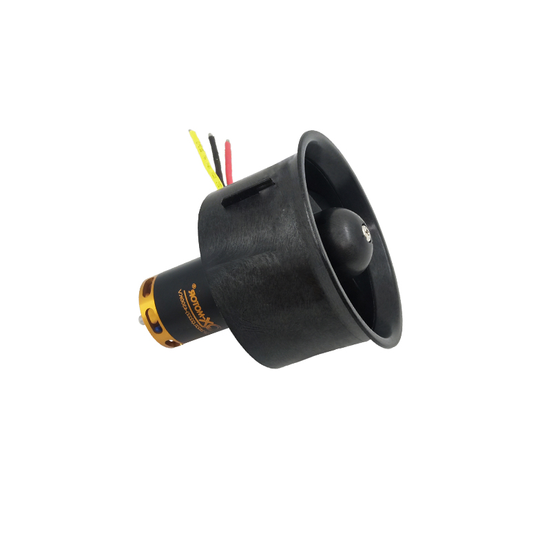 QX-Motor 64mm EDF All Set QF2822 4300KV Motor with 5 Blades Ducted Fan for RC Airplane image