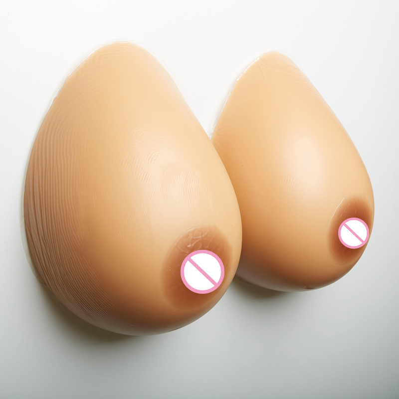 1000G/pair 34DD/36D Cup Artificial Fake Boobs Silicone Transvestite False Breast Forms Big realistic crossdresser Faux Breasts 1 pair 4100g g cup full cup one piece silicone breast forms fake artificial boobs pechos silicone transvestite clothing