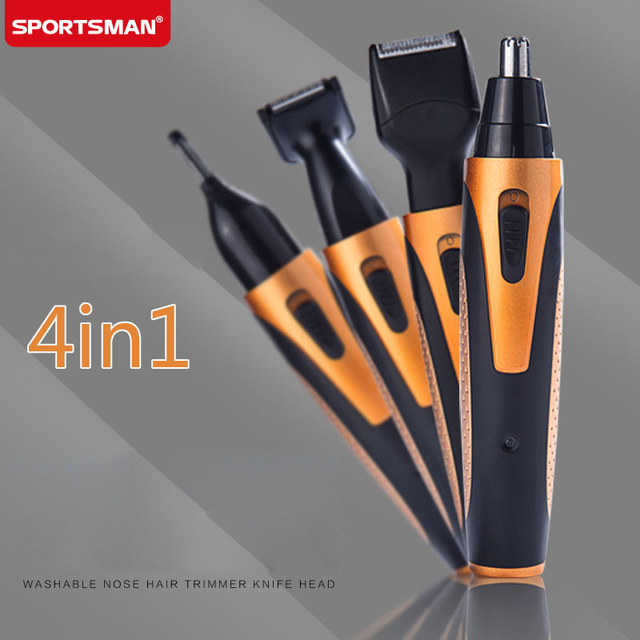 4 In 1 Brand Nose Hair Trimmer Eyebrow Beard Shaving Knife Multi-function Washable Knife Head Set Nose Trimer Machine Shaver