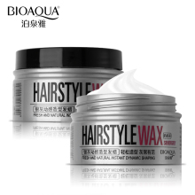 BIOAQUA Brand Hairstyle Shaping Wax Cream Silver Grey Quick Dry Modeling Hair Pomade Mud Easy To Styling Natural Fluffy Gel 100g